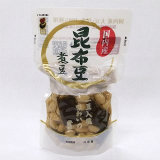 国内産昆布豆煮豆 180g スタンドパック