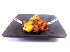 大豆とジャガイモの黒コショウ炒め